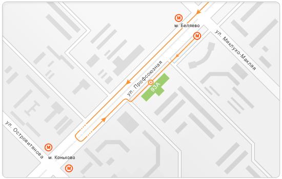 Схема проезда TEXCIS TRADE