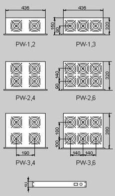 19'' вентиляционные панели PW