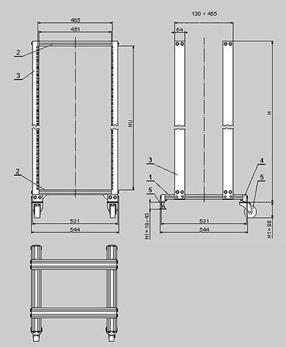 Базовой конструкция стоек серии SRD