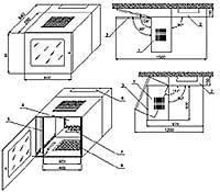 Базовая конструкция настенных шкафов серии SW