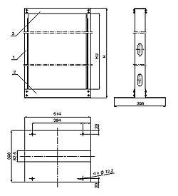 Конструкция 19 '' открытых стоек серии SRС